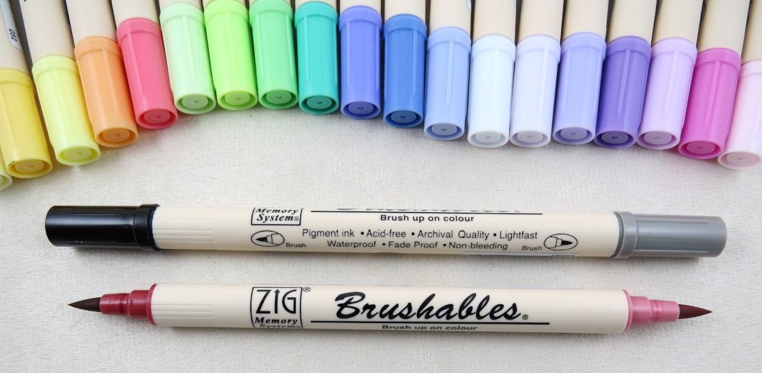 Brushables - Marker mit Pinselspitze