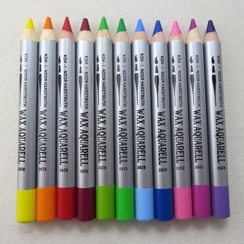 Wachs-Aquarell Farbstifte 8280 Wax - Einzelstifte von Koh-I-Noor