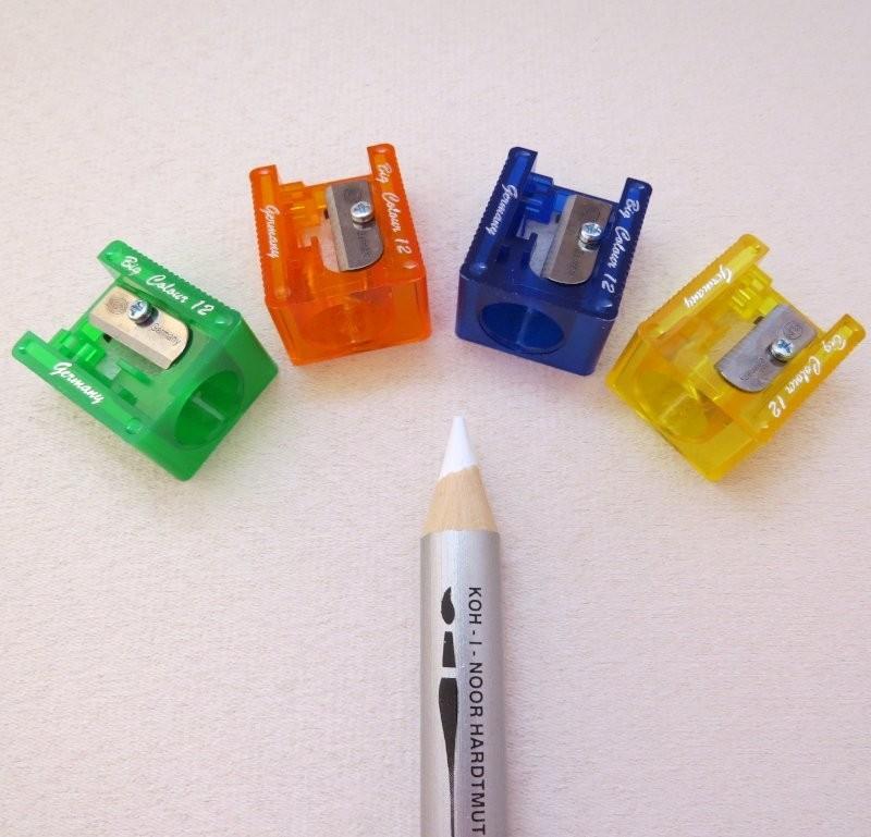 Anspitzer für dicke Buntstifte - Ideal für Wach-Aquarellstifte ( 12mm  Ø )