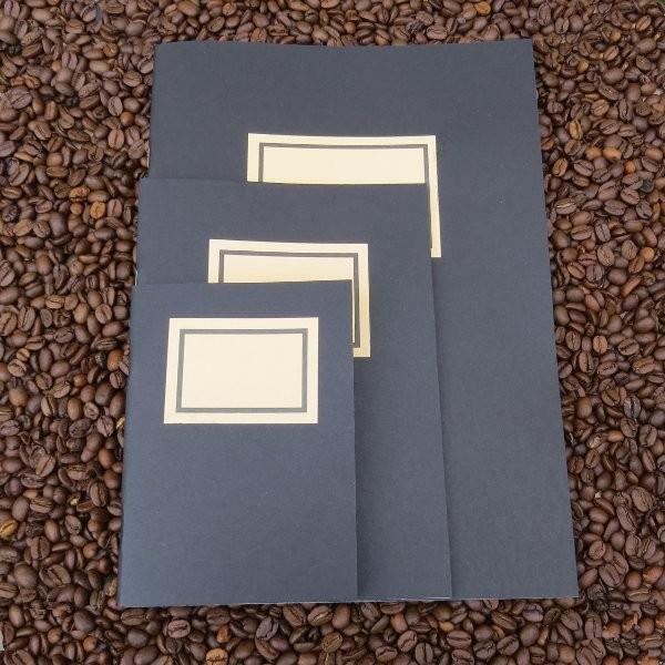Impression A4 + A5 + A6 Schreib- und Skizzenheft, klassisches Design, schwarz - filzpapeterie.de