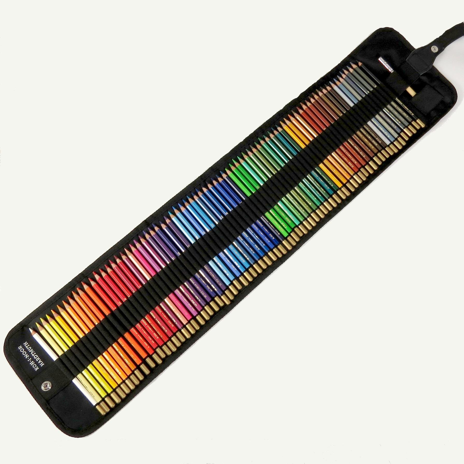 Stifterolle befüllt mit 72 Mondeluz Aquarell Buntstiften von Koh-I-Noor
