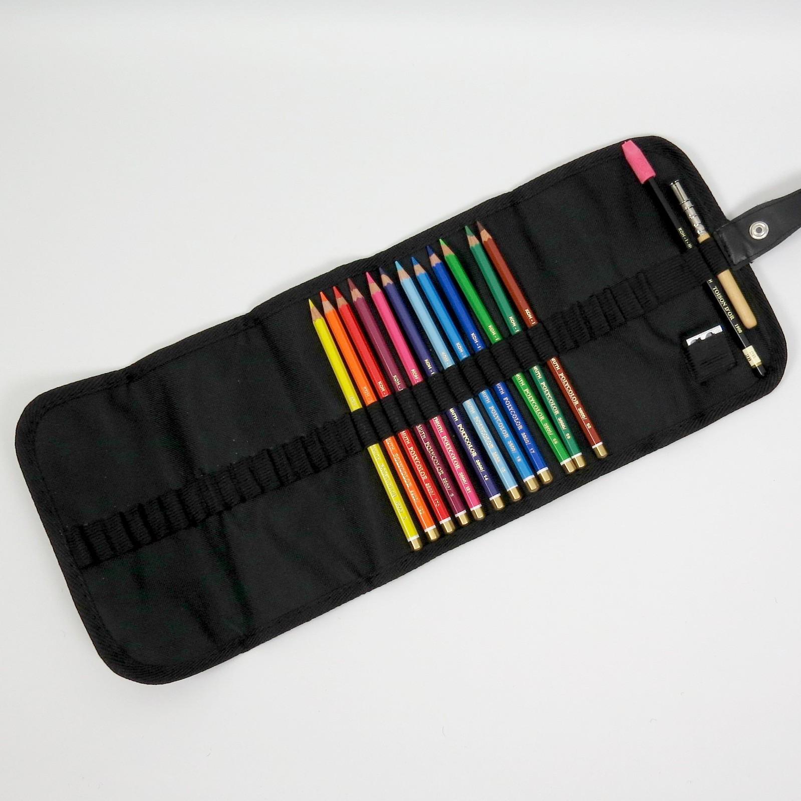 Stifterolle befüllt mit 12 Polycolor Buntstiften von Koh-I-Noor
