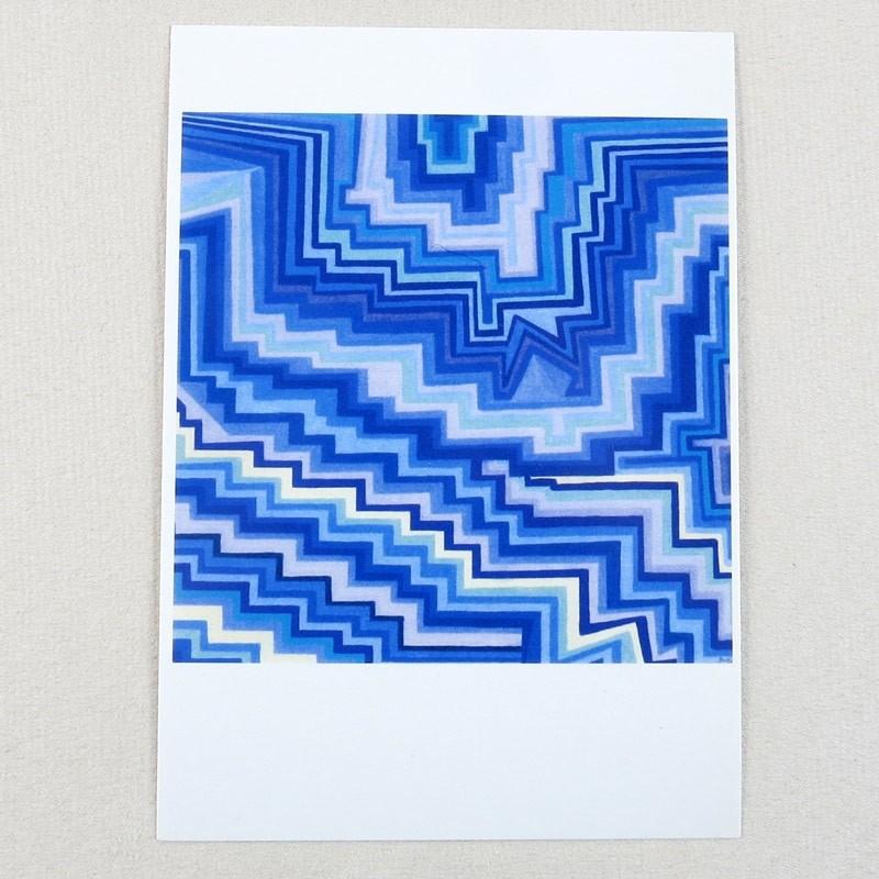 """Postkarte  """"Stufen"""" von Thora Wietrek"""