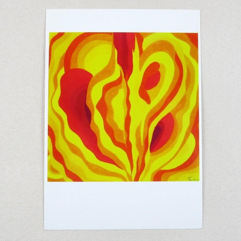 """Postkarte  """"Das zerfließende Herz der Edda"""" von Thora Wietrek"""