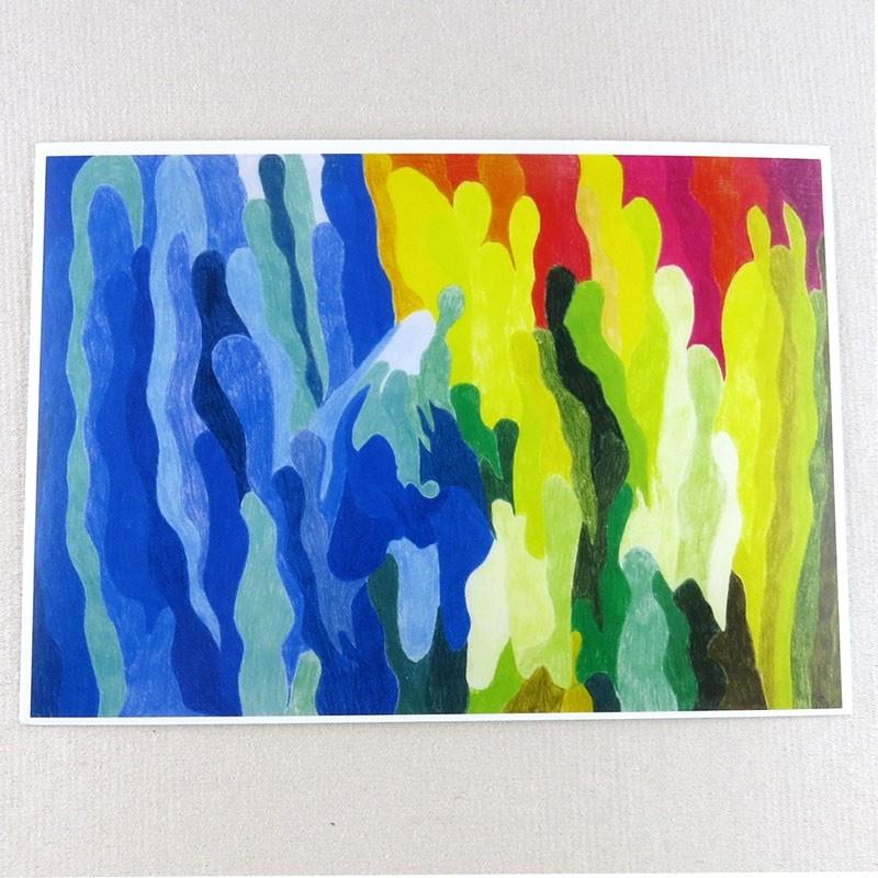 """Postkarte  """"Wesen""""  von Thora Wietrek"""