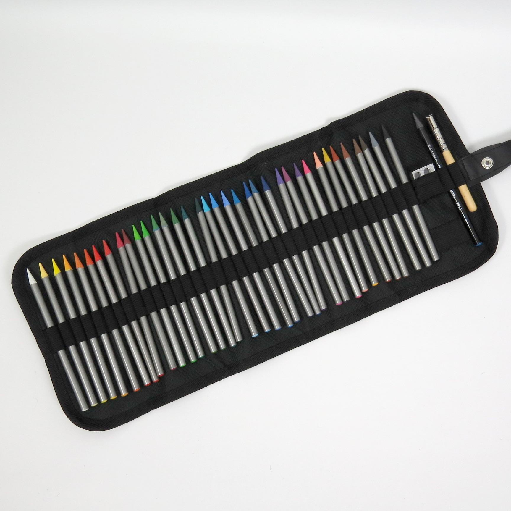 Stifterolle befüllt mit 36 Vollminen Progresso Aquarell Buntstiften von Koh-I-Noor