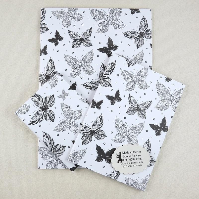 Notiz-Hefte Schmetterlingen, Impression
