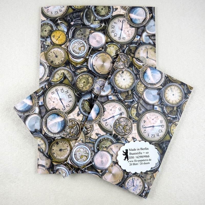 Notiz-Hefte Uhren, Impression