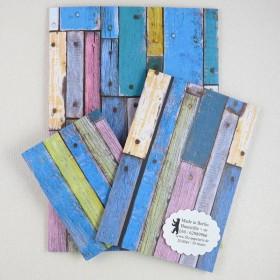 Notiz-Heft Holz bunt