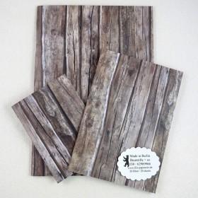 Notiz-Heft Holz braun