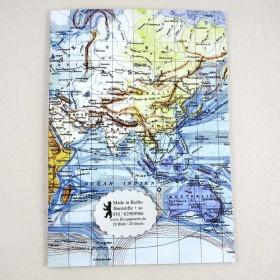 A5 Notiz-Heft Welt-Karte