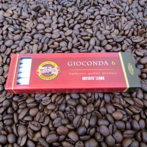 Gioconda Minen - Kreide weiß - Ø 5,6mm für Fallminenstifte ( 6 Stück ) in Kreide weiß, sepia, hell und dunkel braun