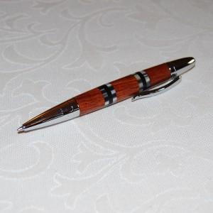 Holzkugelschreiber aus Rosenholz und Perlmutt
