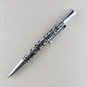 Kugelschreiber mit Blumenmotiv und Großraummine