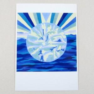 """Postkarte  """"Mond"""" von Thora Wietrek"""