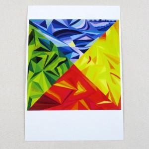 """Postkarte  """"Nord Süd West Ost"""" von Thora Wietrek"""