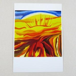 """Postkarte  """"Aufgang"""" von Thora Wietrek"""