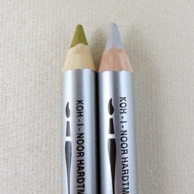 Gold + Silber Wachs-Aquarell Farbstifte 8280 Wax von Koh-I-Noor