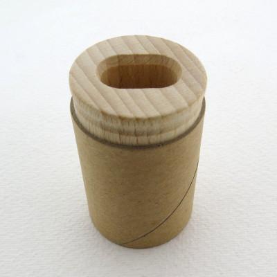 Holz-Doppel-Anspitz-Behälter für Bleistifte und Buntstifte