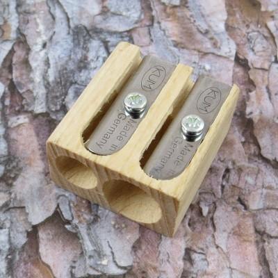 Holz-Doppel-Anspitzer für Buntstifte und Bleistifte