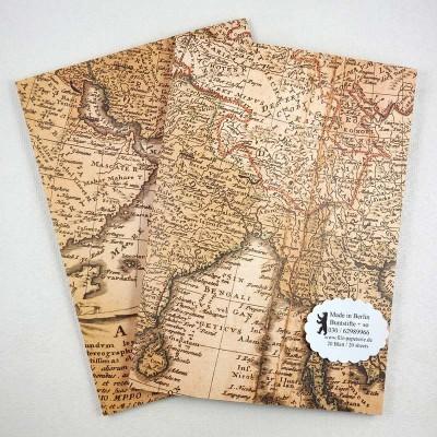 A5 Notiz-Heft Asien Landkarte