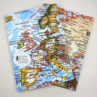 Notiz-Heft Europa-Karte