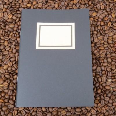 A4 Schreib- und Skizzenheft, klassisches Design, schwarz - filzpapeterie.de