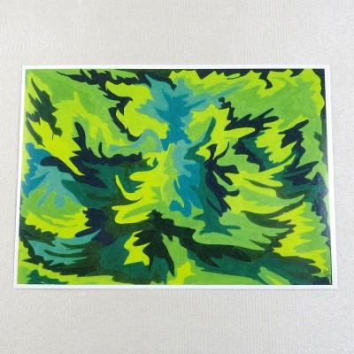"""Postkarte  """"Waldfeen"""" von Thora Wietrek"""