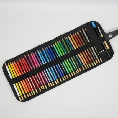 Stifterolle befüllt mit 36 Mondeluz Aquarell Buntstiften von Koh-I-Noor