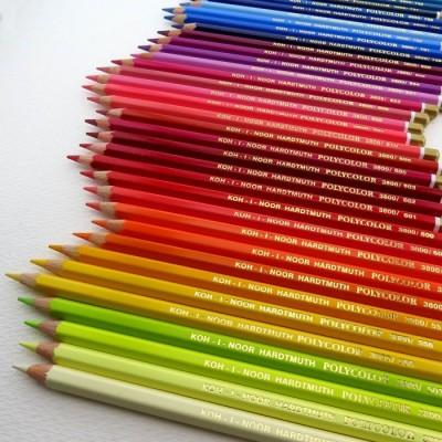 62 neue Farben 2020 - Buntstifte Polycolor 3800 - Einzelstifte