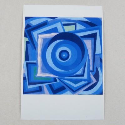 """Postkarte  """"Um die Mitte"""" von Thora Wietrek"""