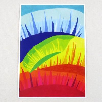 """Postkarte  """"Sonnen"""" von Thora Wietrek"""