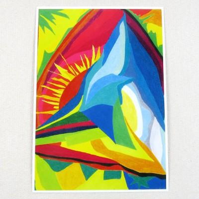 """Postkarte  """"Berg"""" von Thora Wietrek"""