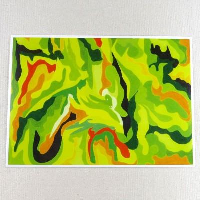 """Postkarte  """"gelb-orange"""" von Thora Wietrek"""
