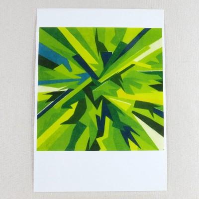 """Postkarte  """"grüner Kern"""" von Thora Wietrek"""