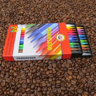 Progresso – Vollminen Buntstift von Koh-I-Noor - 24er Set in Pappschuber