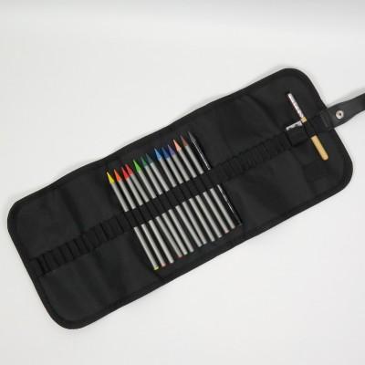 Stifterolle befüllt mit 12 Vollminen Progresso Aquarell Buntstiften von Koh-I-Noor