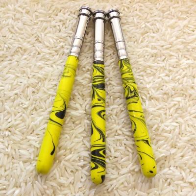 Stifteverlängerer  gelb - schwarz marmoriert - Buntstift + so