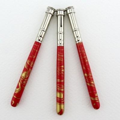 Stiftverlängerung hell rot - gold marmoriert